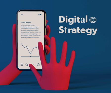 Digital Strategy Ad with using Mobile App Facebook Modelo de Design