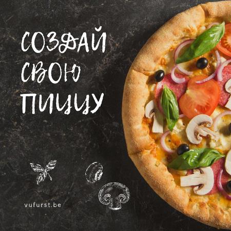 Italian Pizza menu promotion Animated Post – шаблон для дизайна