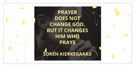 Plantilla de diseño de Religion citation about prayer Image