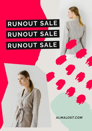 Women's Day Sale with Womens in costumes Poster – шаблон для дизайна