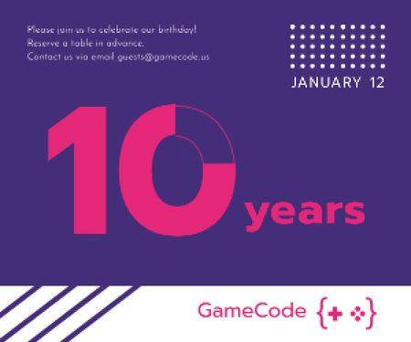 Designvorlage 10 years anniversary event announcement für Medium Rectangle