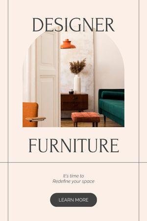 Plantilla de diseño de Designer Furniture offer Tumblr