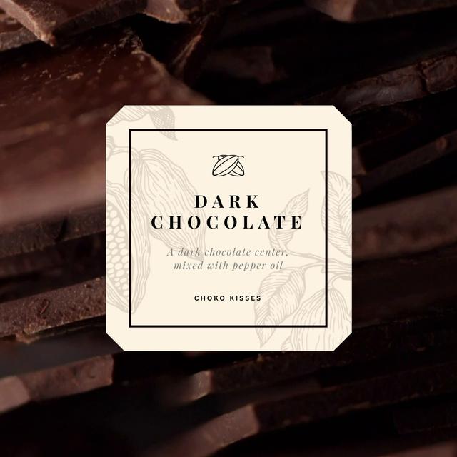 Sweet Dark Chocolate Pieces Animated Post – шаблон для дизайна