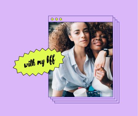 Plantilla de diseño de Happy Friends Girls Facebook