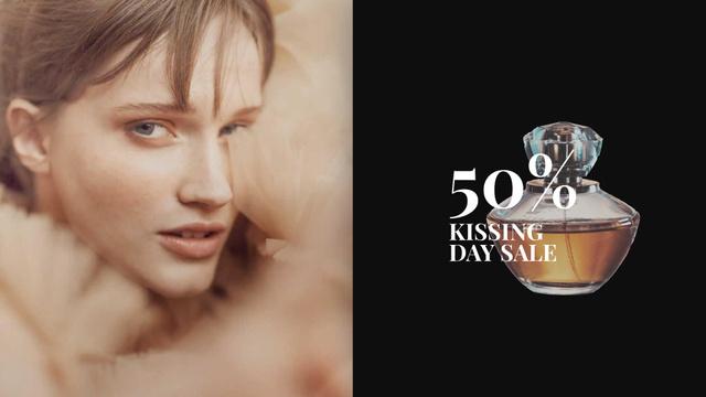 Plantilla de diseño de Beautiful Woman with Perfume Bottle Full HD video