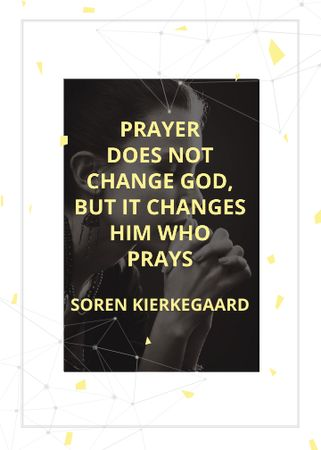 Ontwerpsjabloon van Invitation van Religion Quote with Woman Praying