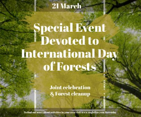 Special Event devoted to International Day of Forests Large Rectangle Design Template