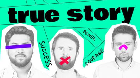 Blog promotion with Funny Young Men Youtube Thumbnail Modelo de Design