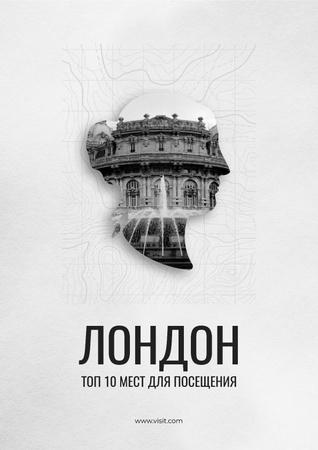 London tour advertisement Poster – шаблон для дизайна