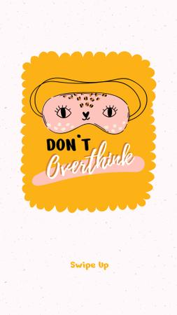 Plantilla de diseño de Mental Health Inspiration with Cute Eye Mask Instagram Story