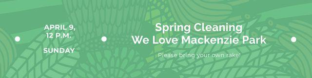 Ontwerpsjabloon van Twitter van Spring cleaning Announcement