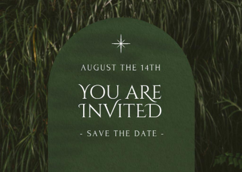 Plantilla de diseño de Wedding Announcement with Green Grass Card