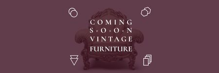 Plantilla de diseño de Antique Furniture Ad Luxury Armchair Twitter