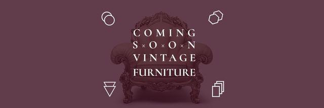 Antique Furniture Ad Luxury Armchair Twitter – шаблон для дизайна