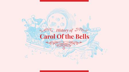 Ontwerpsjabloon van Youtube van History of Carol of the bells