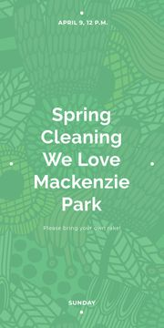 Spring Cleaning Event Invitation Green Floral Texture