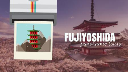 Designvorlage Fujiyoshida famous Travelling spots für Full HD video