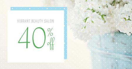 Beauty Salon Services Discount Offer Facebook AD Πρότυπο σχεδίασης