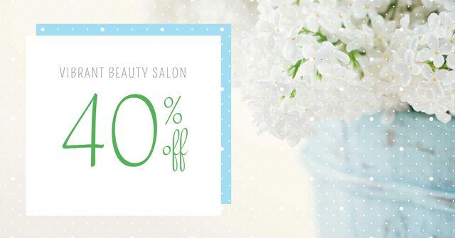 Beauty Salon Services Discount Offer Facebook AD Design Template