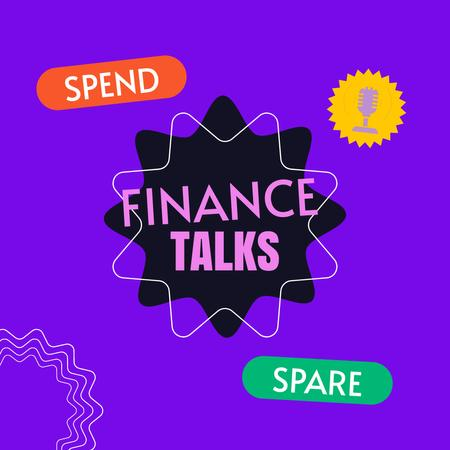 Podcast Topic Announcement about Finance Animated Post – шаблон для дизайна