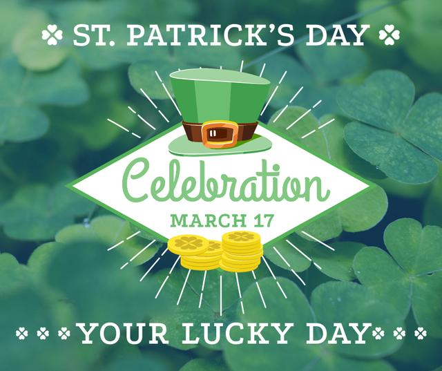 Ontwerpsjabloon van Facebook van St. Patrick's day greeting card