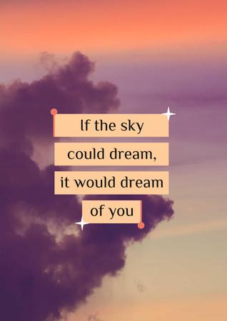 Szablon projektu Dream Quote on sunset Sky Poster