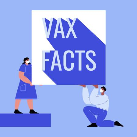 Plantilla de diseño de Facts about Virus Vaccination Announcement Instagram