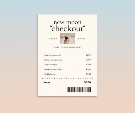 Modèle de visuel New Moon Checkout Announcement - Facebook