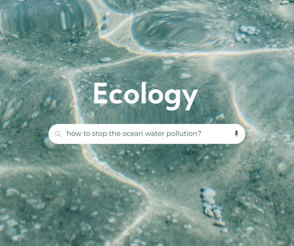 Ontwerpsjabloon van Facebook van Eco Concept with Crystal Sea Water