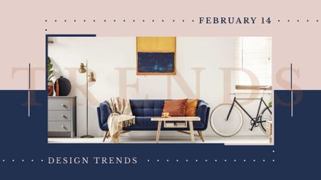 Design Event Ad with Modern Room Interior FB event cover Modelo de Design