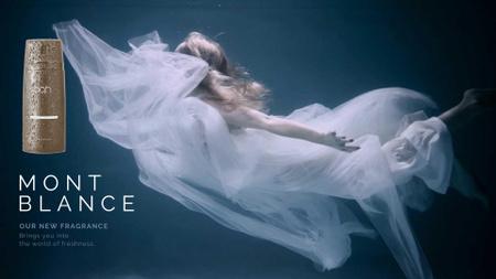 Perfume Ad Magical Woman Underwater Full HD video – шаблон для дизайну