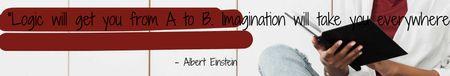 Modèle de visuel Education Quote with Girl Student reading - LinkedIn Cover