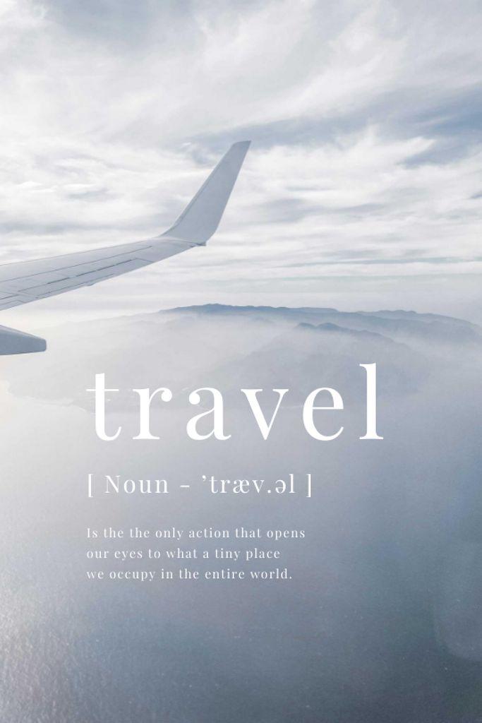 Szablon projektu Plane in Sky with inspirational Quote Tumblr