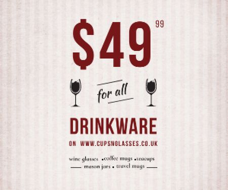 Plantilla de diseño de Drinkware for all shop Medium Rectangle