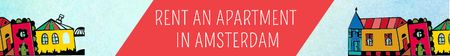 Plantilla de diseño de Real Estate Ad with Amsterdam Buildings Leaderboard