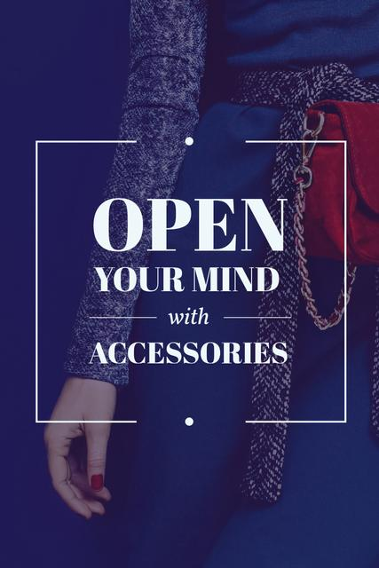 Ontwerpsjabloon van Pinterest van Young woman with accessories