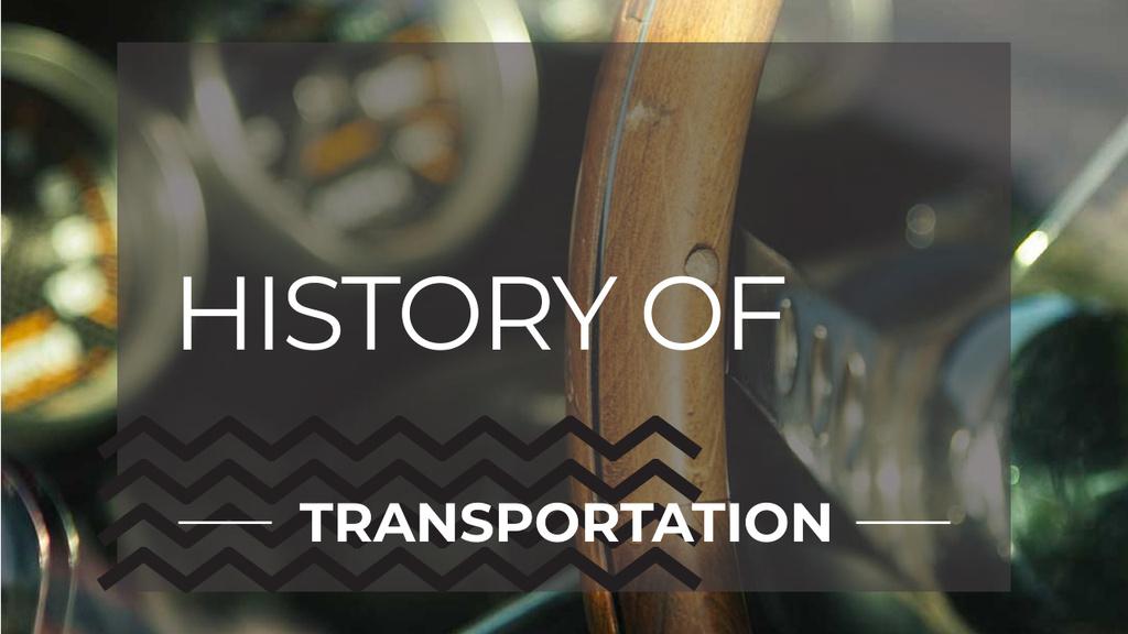 Template di design Salon of Luxury Vintage Car Youtube Thumbnail