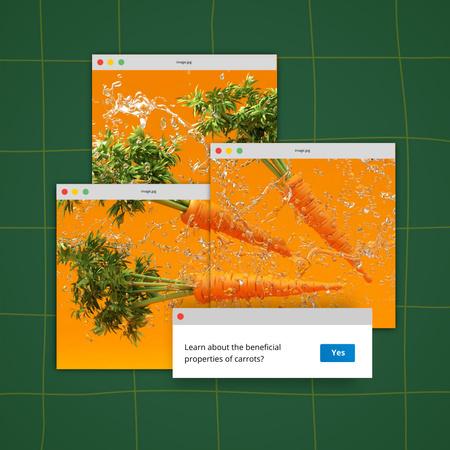 Modèle de visuel Beneficial Properties of Carrots - Instagram