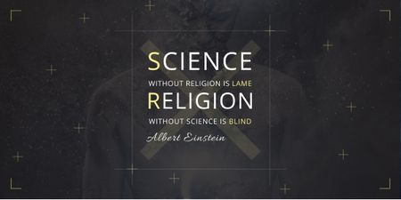 Citation about science and religion Image Tasarım Şablonu