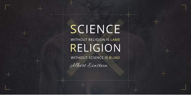 Citation about science and religion Image Modelo de Design