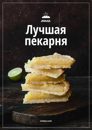 Bakery Ad with Sweet Pie with Lime Poster – шаблон для дизайна