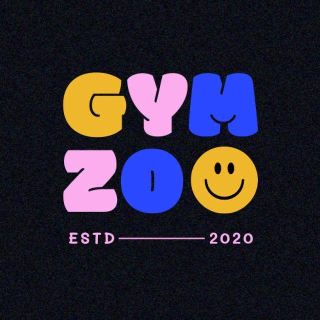 Gym Ad with Cute Emoji Face Logo – шаблон для дизайна