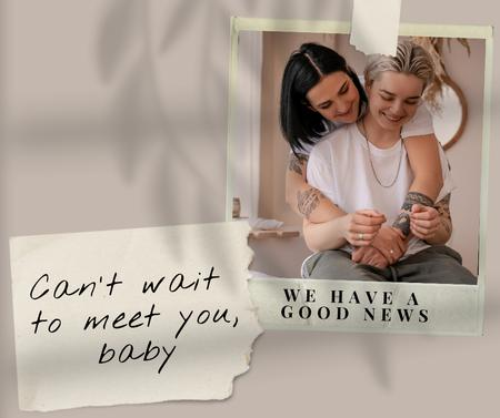 Plantilla de diseño de Cute LGBT Couple expecting Baby Facebook