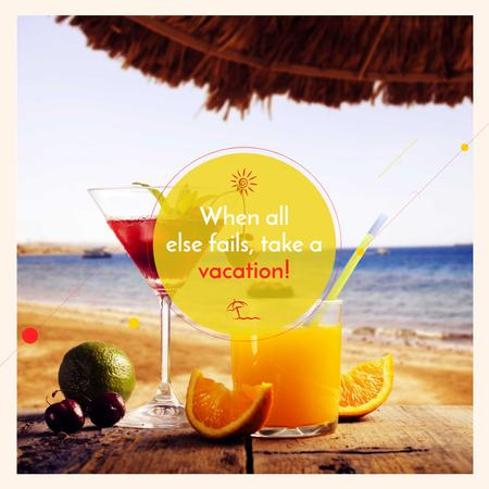 Plantilla de diseño de Summer Cocktails on the Beach Instagram