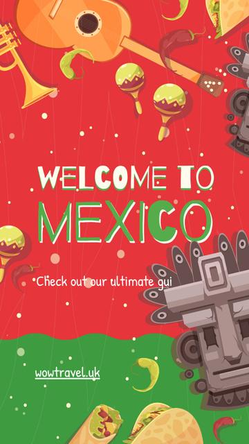 Travelling to Mexico concept Instagram Story Modelo de Design