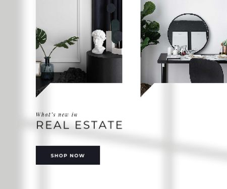 Template di design Modern Room Interior for Real Estate offer Large Rectangle