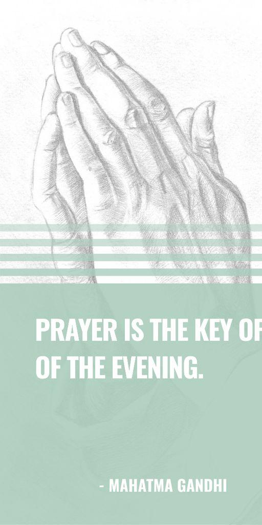 Ontwerpsjabloon van Graphic van Religion Quote with Hands in Prayer