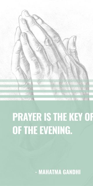 Modèle de visuel Religion Quote with Hands in Prayer - Graphic