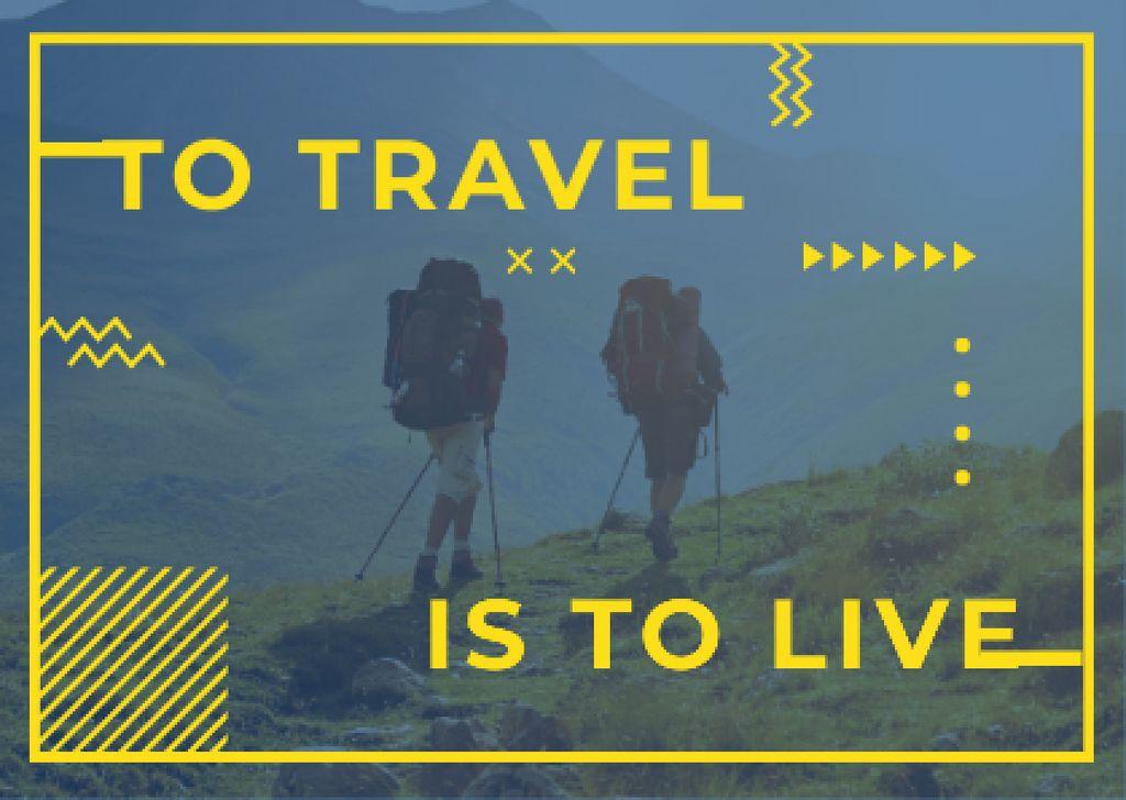 Hiking travel motivational poster — Maak een ontwerp