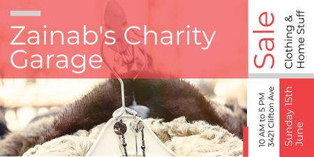Template di design Zainab's charity Garage Image